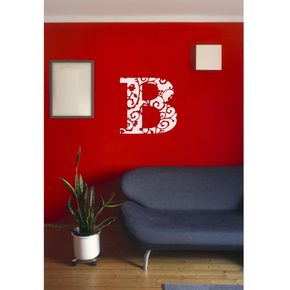 Monogram wall decal
