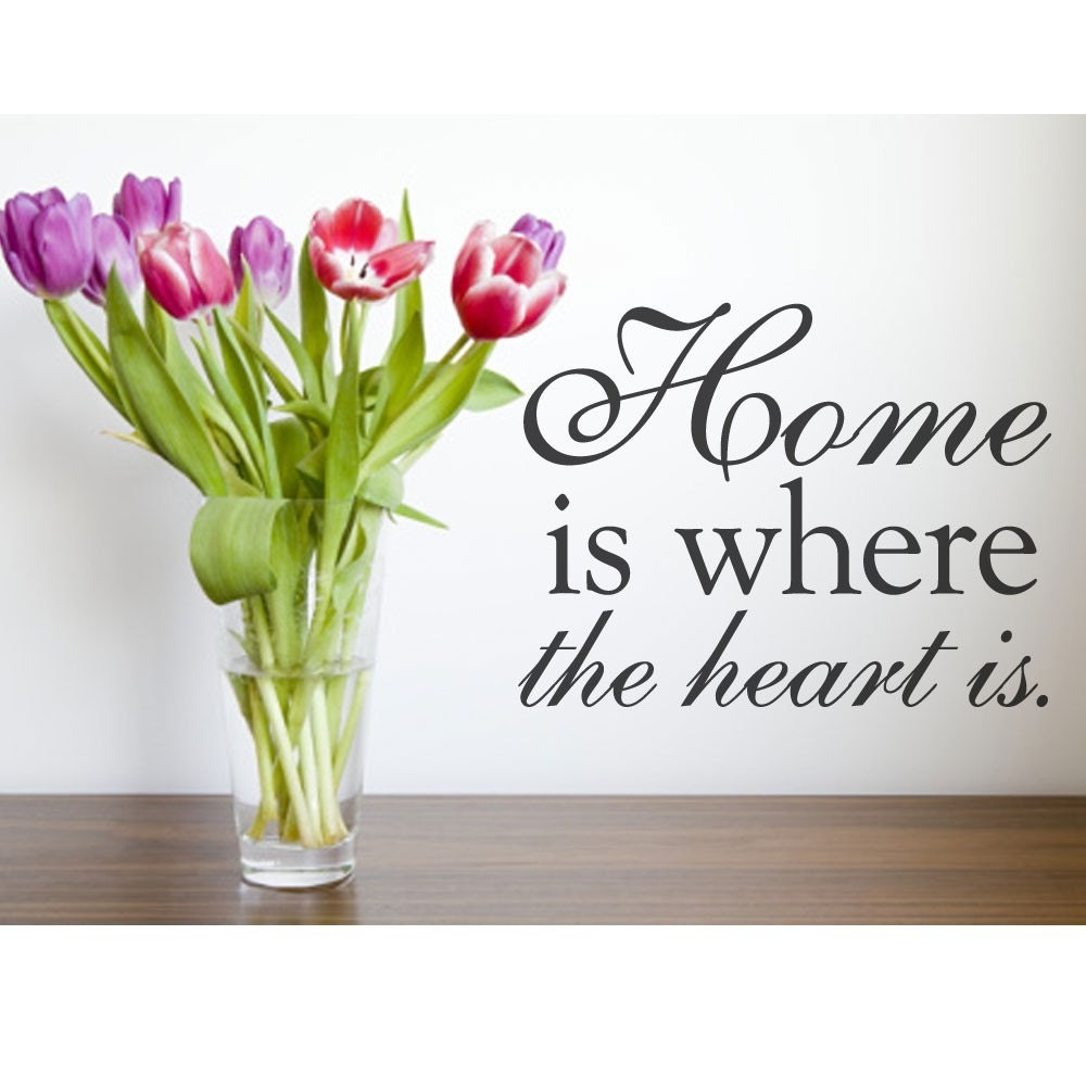 Home Is Where The Heart Is Quote Home Is Where The Heart Is Wall Decal