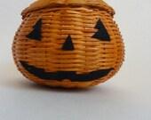 Halloween Pumpkin Head Basket