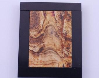 Original Picture jasper and black onyx Intarsia pendant bead BB12S791