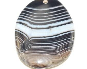 Black Stripe Agate pendant bead BSA141640