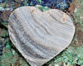 Amazing Heart Shaped Brazilian Chalcedony Druzy Cabochon J13B7400