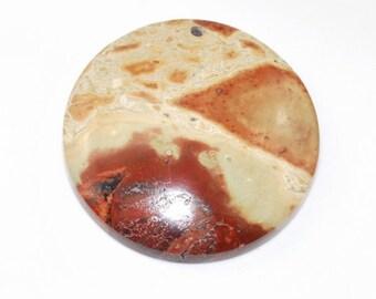 Cheesecake Jasper Pendant Bead J22B7962
