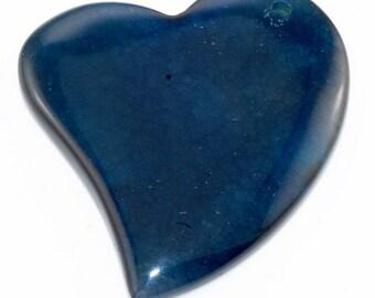 Heart Shaped Blue Agate pendant bead BAA4S9200