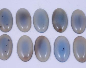 10 pcs Gray Agate Calibrated Cabochon JA2B142061