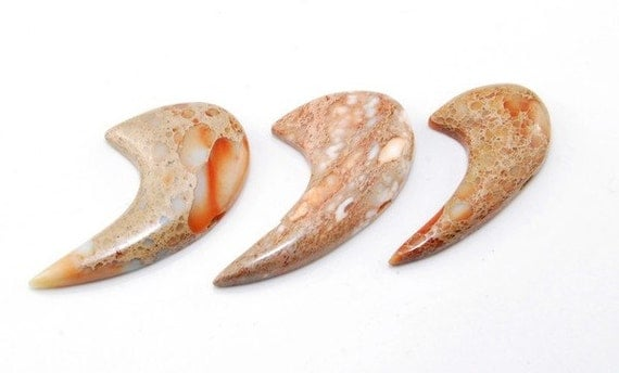 3 pieces Sea Sediment Jasper  pendant bead Set SP8481