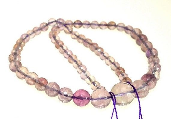 Custom Listing for Tami Beautiful Amethyst Faceted Round beads full strand 15.5 inches LB1674