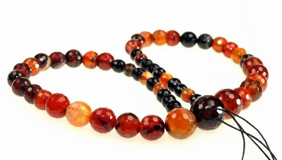 Carnelian Faceted Round beads full strand 15 inches LB1690