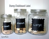 Stamp Chalkboard Labels