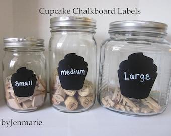 Cupcake Chalkboard Labels