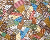 African Patchwork Print Cotton Fabric--One  Yard