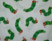 Very Hungry Caterpillar Print Pure Cotton Fabric--One Yard