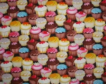 Cupcakes, Cupcakes Print Cotton Fabrics--By the Yard