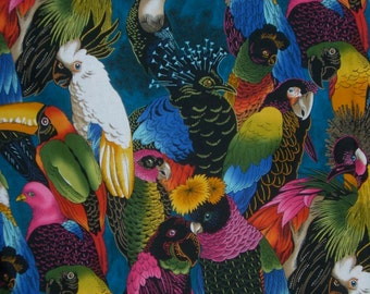 Birds of a Feather Print Pure Cotton Fabric from Alexander Henry--By the Yard
