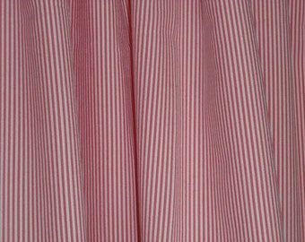 Pink and White Stripe Cotton With Lycra Fabric--One Yard