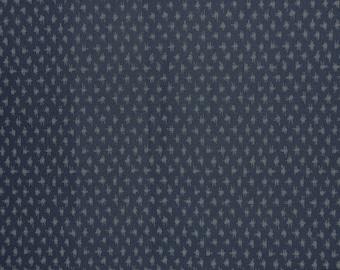 Small Ikat Design Japanese Indigo Print Fabric--One Yard