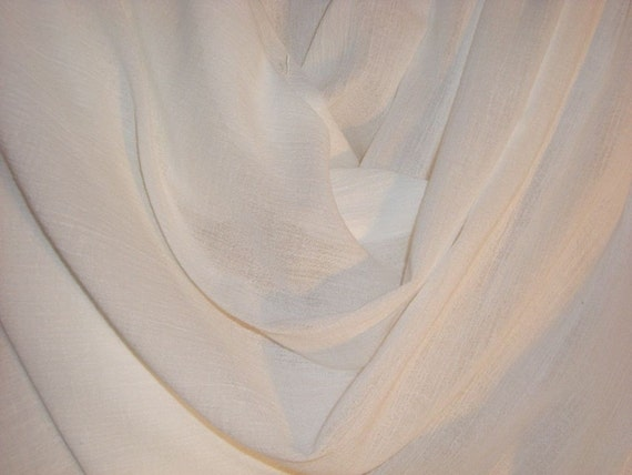 Optic White Pure Cotton Gauze Fabric--One Yard