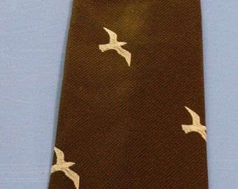 Vintage Silk and Polyester Tie