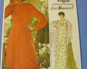 Vintage Easy Leo Narducci Vogue American Pattern 1201