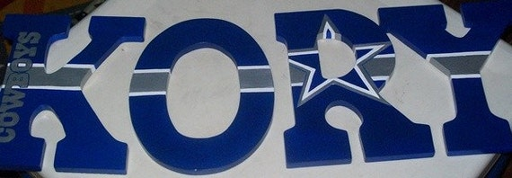 Dallas Cowboys Themed Letters By Randeehock On Etsy