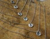 "Silver Butterfly Mini Charm-ette 16"" Silver Necklace"