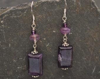 Isabella Long Amethyst Earrings