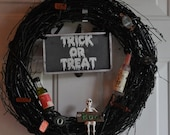 Halloween Trick or Treat Wreath MADE TO ORDER