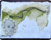 Applied Knowledge - Original Mixed Media Artwork - ACEO Size