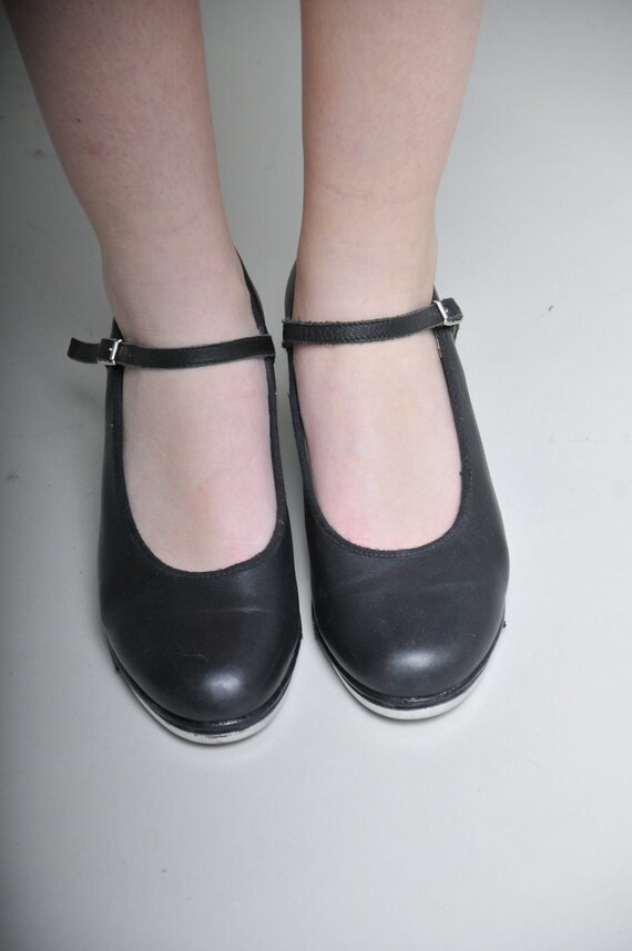 Bloch Black Leather Tap / Dancing Shoes -- Size 9