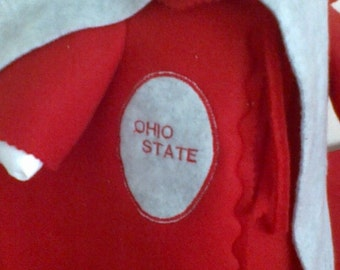 GOOSE SPORTS CLOTHING --  Ohio State Buckeyes ~ Red Fleece Coat ~ 3 piece outfit ~ Plastic or Cement Lawn goose clothing