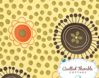 Flowers and Dots in Glow 17591-11 - Grand Finale by Sandy Gervais - Moda - 1 Yard
