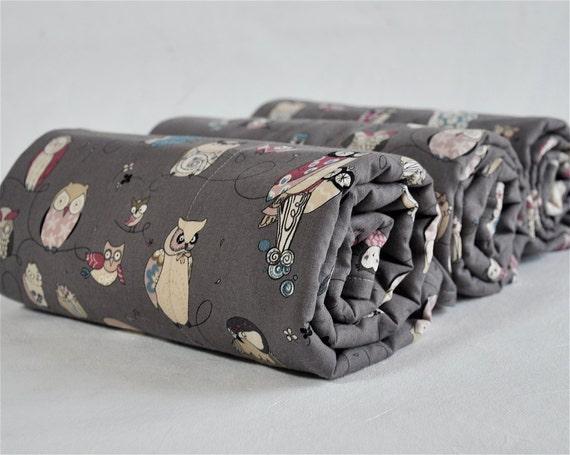 Owl Baby Blanket, Baby Boy Stroller Blanket