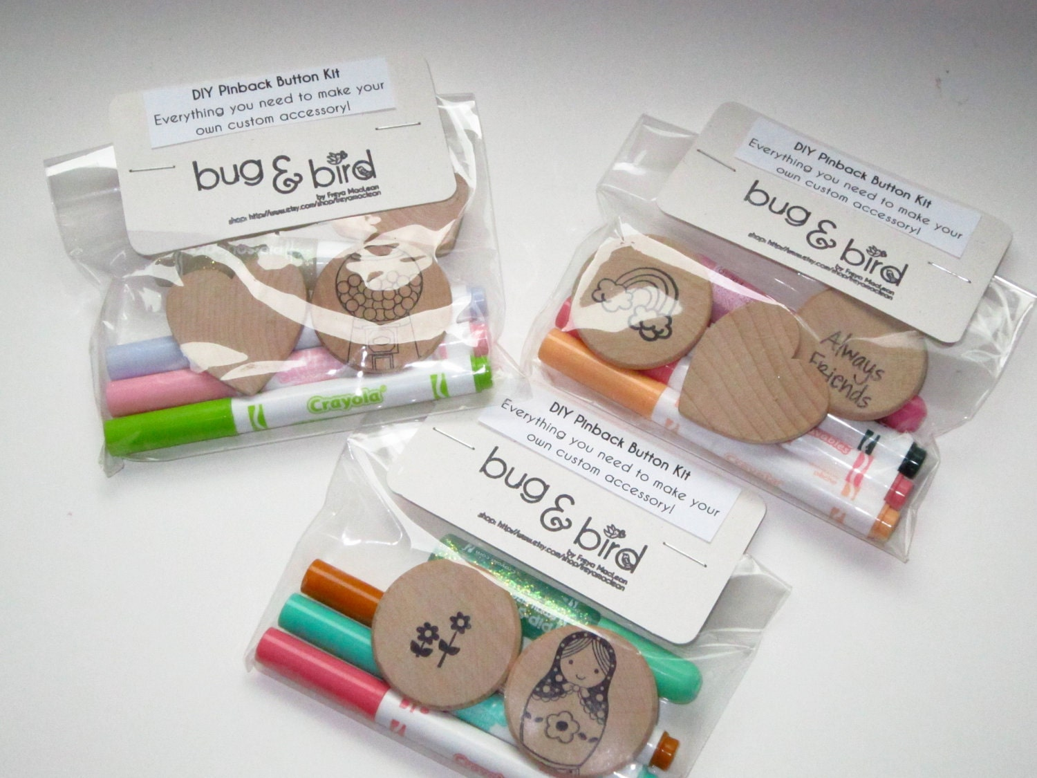 Items similar to diy pinback button kit craft kit for for Craft kits for preschoolers