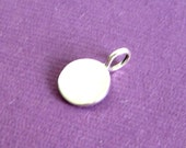Sterling Silver  Blank Stamping  Disc Charm