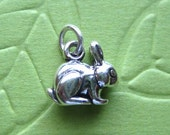 Sterling Silver 3D Rabbit Charm