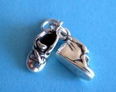 Sterling Silver Baby Shoe Pair Pendant Charm