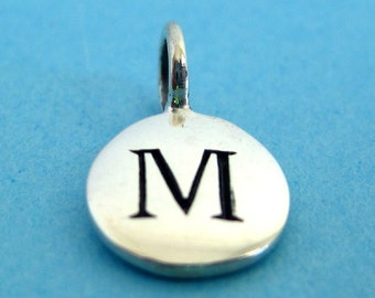 Sterling Silver Alphabet Letter M Initial Charm