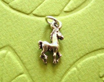 Sterling Silver  Prancing Pony Petite Charm