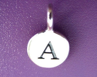 Sterling Silver Alphabet Letter A Initial Charm
