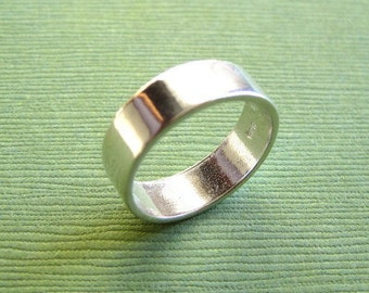 Plain Sterling Silver  Ring for Stamping
