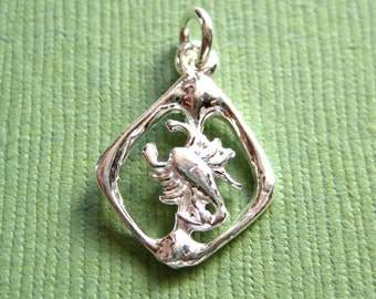 Sterling Silver Scorpion  Zodiac  Sign Pendant Charm CLEARANCE