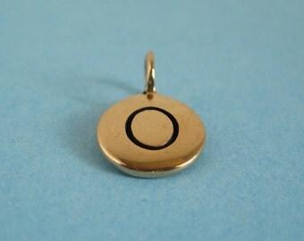 Bronze Alphabet Letter O Initial Charm