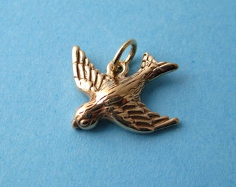 Bronze Woodlands Songbird  Charm