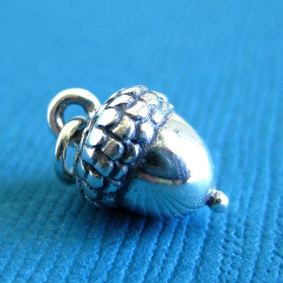 Sterling Silver Petite  Acorn Charm