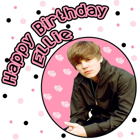 Items Similar To Personalized Justin Bieber Birthday T