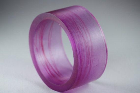 Resin Bangle Bracelet in Magenta