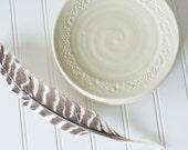 SALE - Pottery Salad Plates - spearmint - set of 4