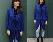 Vintage 80's Royal Blue Tuxedo Style Jacket sz. M