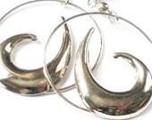 Silver Wave Dangle Earrings