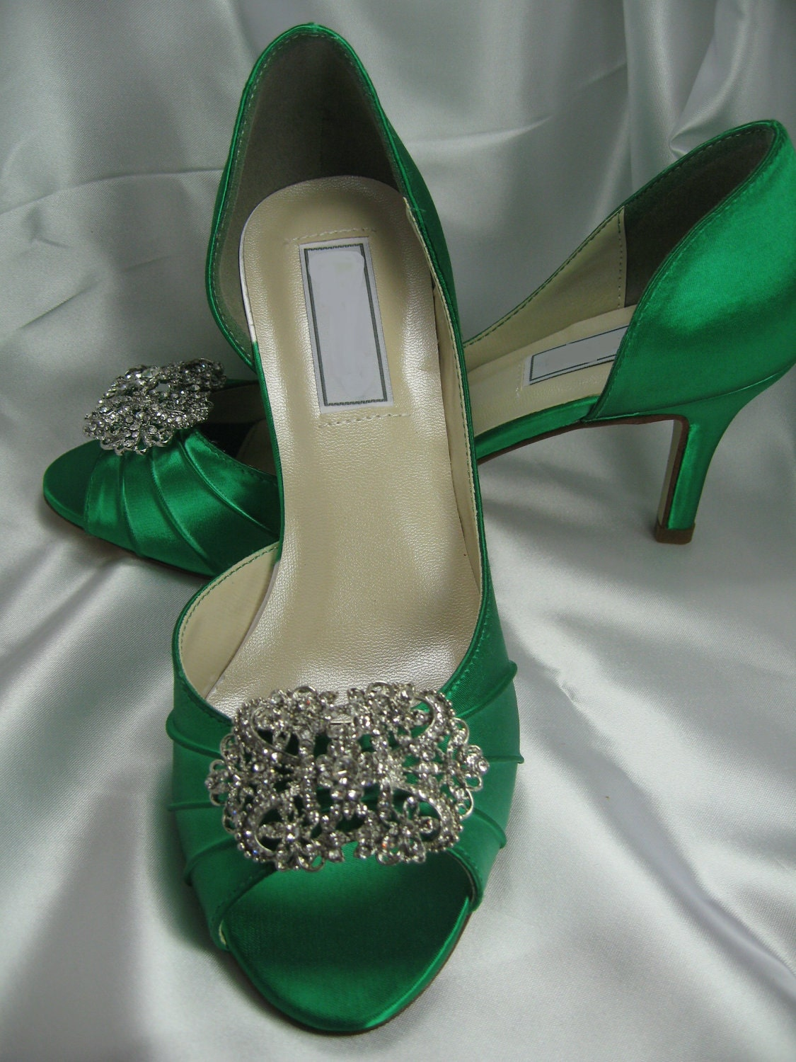 Emerald Green Bridal Shoes Green Bridesmaid Shoes Green